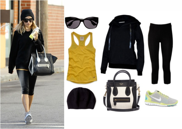 nicole richie activewear style