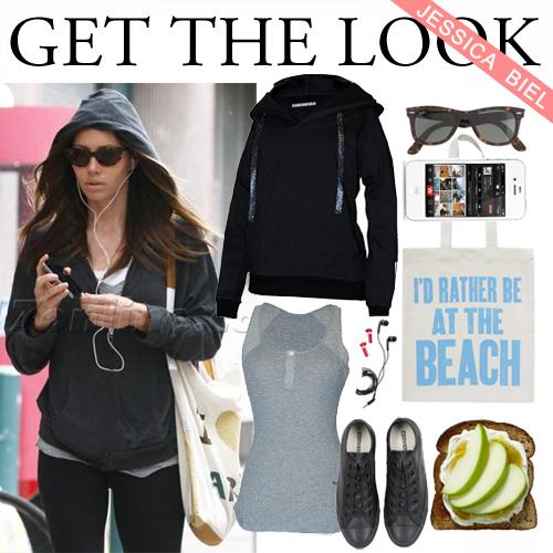 jessica biel activewear style
