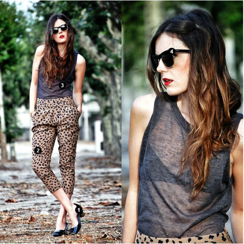 animal print blogger look