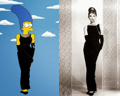 Marge Simpson Givenchy Audrey Hepburn The simspsons Shot Humor Chic by aleXsandro Palombo