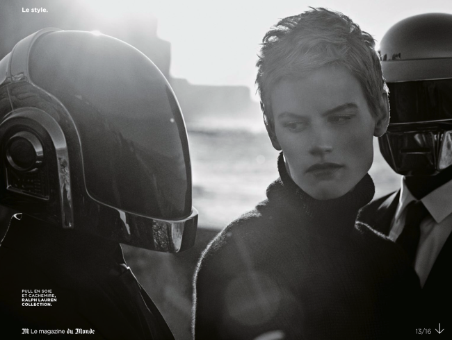Saskia De Brauw And Daft Punk By Peter Lindbergh For M Le Monde-4