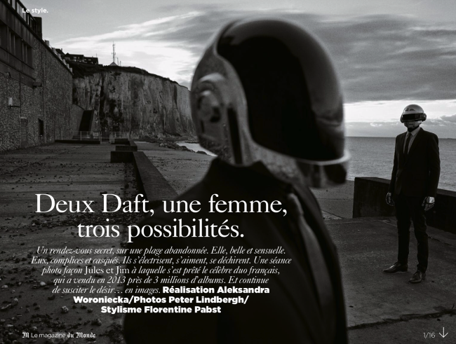 Saskia De Brauw And Daft Punk By Peter Lindbergh For M Le Monde
